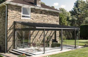 glass veranda with walls