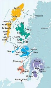 Inland hebrides map