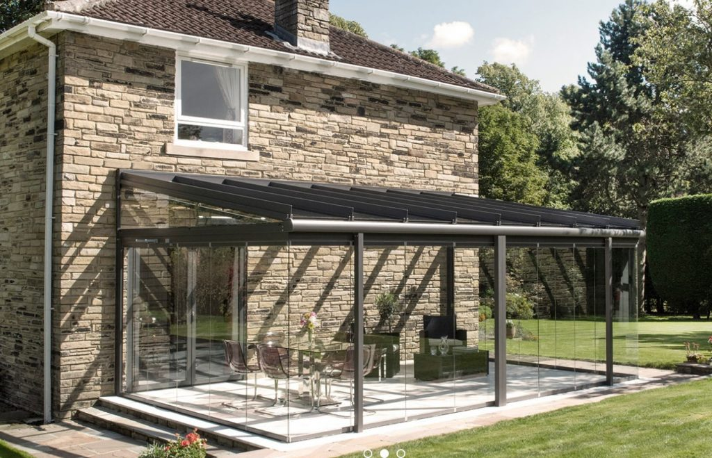 glass veranda with walls