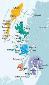 Inland hebrides map